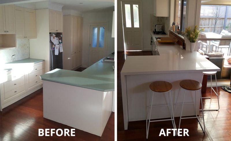 Laminex Kitchen facelift Pakenham