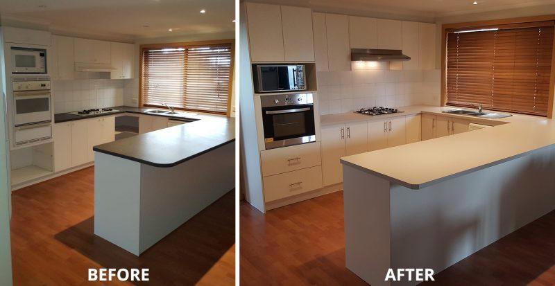 Polytec Kitchen facelift Berwick