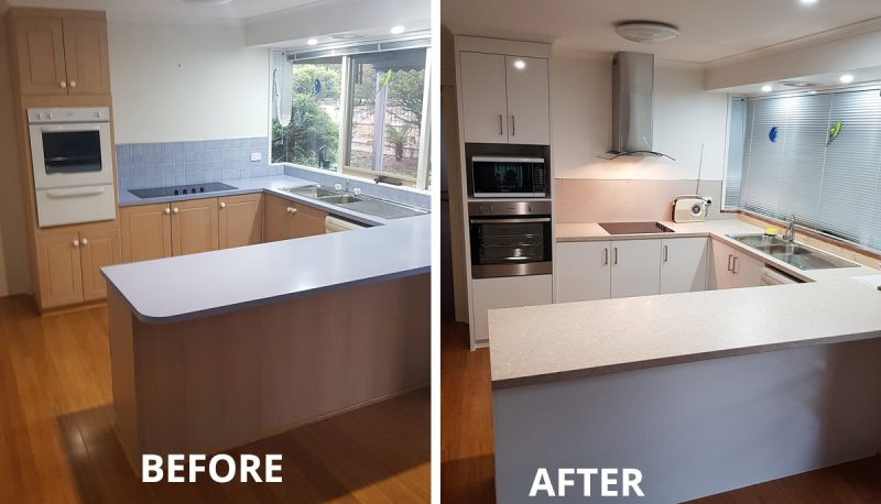 Kitchen facelift Berwick